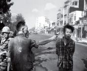 The famous photo where Vietcong Nguyen Van Lem is executed. the photo was taken the moment the bullet hit his head. from www subhashree xx photo
