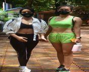 Neha Sharma and Aisha Sharma getting ready for gym session from siddharth sharma in underwear
